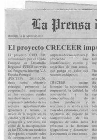 El proyecto CRECEER es noticia en prensa